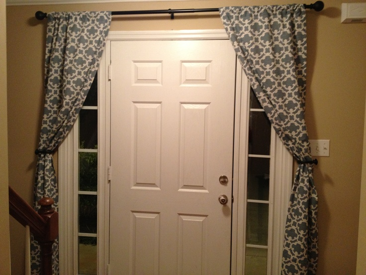 how to put curtains rods door