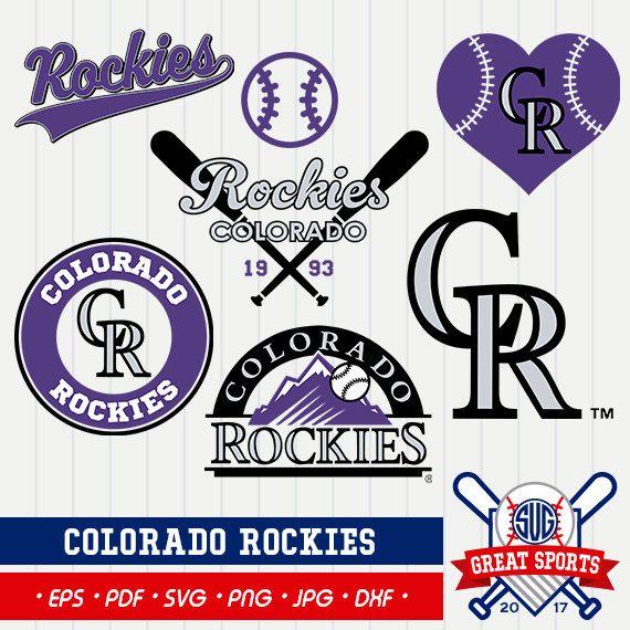 Colorado Rockies SVG, Rockies Clipart, Colorado Rockies DXF, Baseball Clipart, Colorado Clipart,  Clipart SVG, mb-22