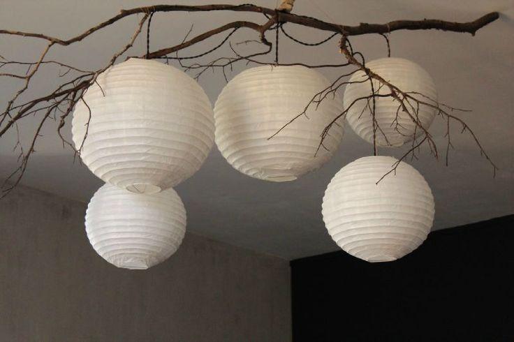 3 differents gris dans le fond (dont celui du plafond ferait rappel à celui du sol) luminaire Trendy Little