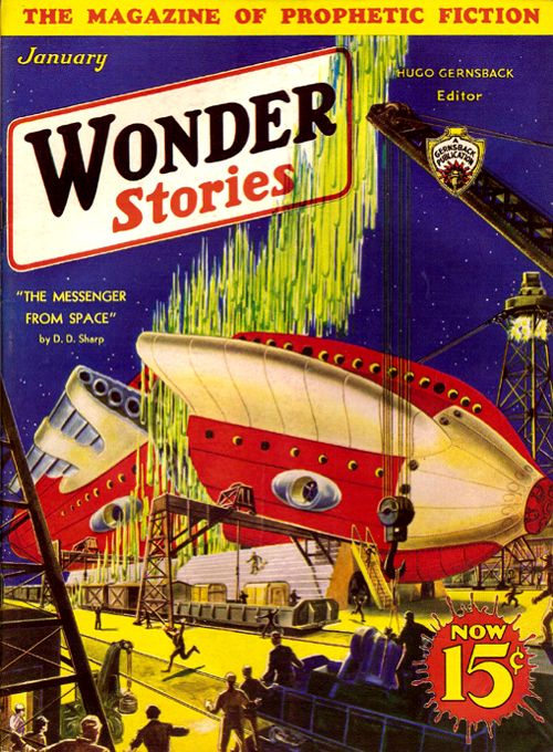 Wonder Stories Jan 1933: The Messenger from Space, Cover art by Frank R.
