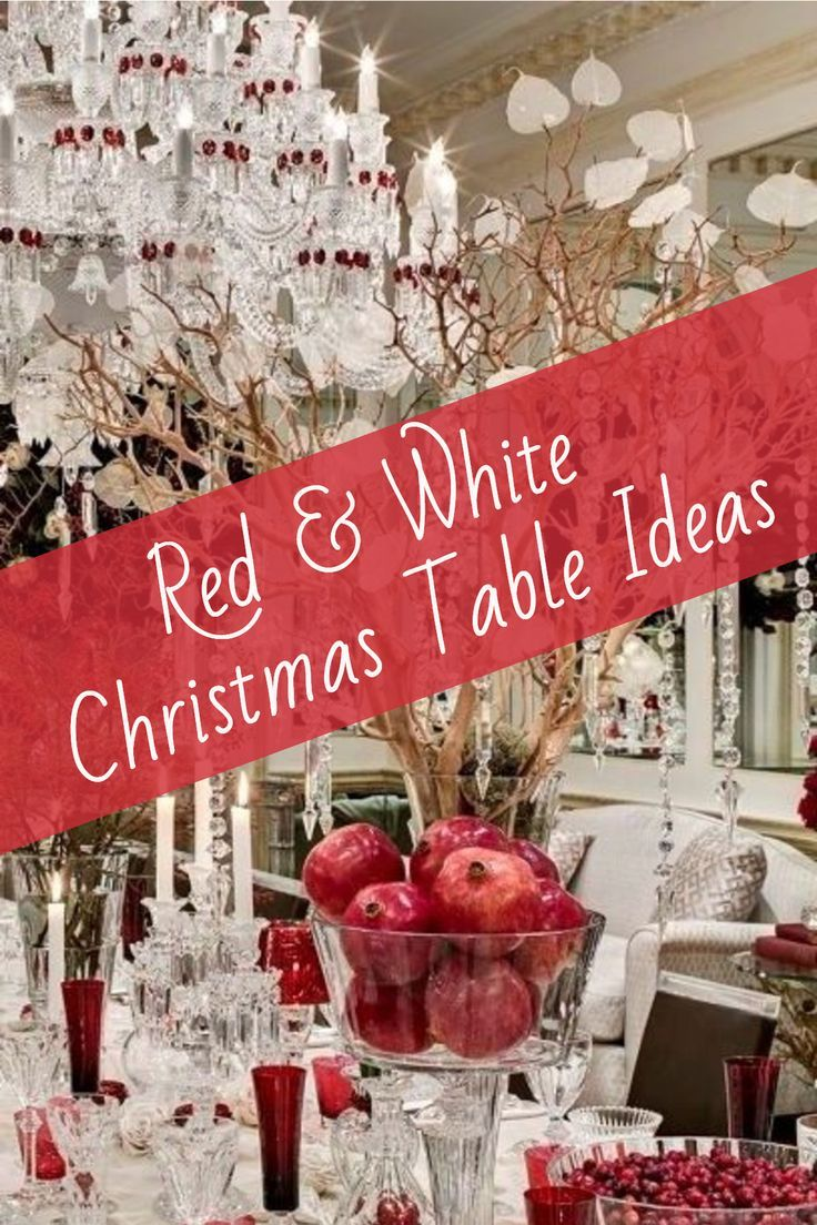 Red And White Christmas Table Setting Ideas Hip Hoo Rae Christmas Table Settings Christmas Table Red White Christmas