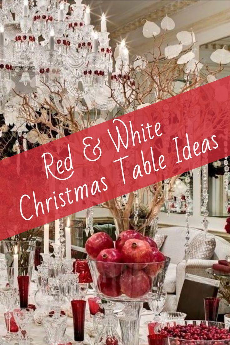 Christmas Table Decorations Pinterest