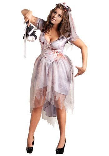 17 best ideas about zombie bride costume on pinterest for Halloween wedding dresses plus size
