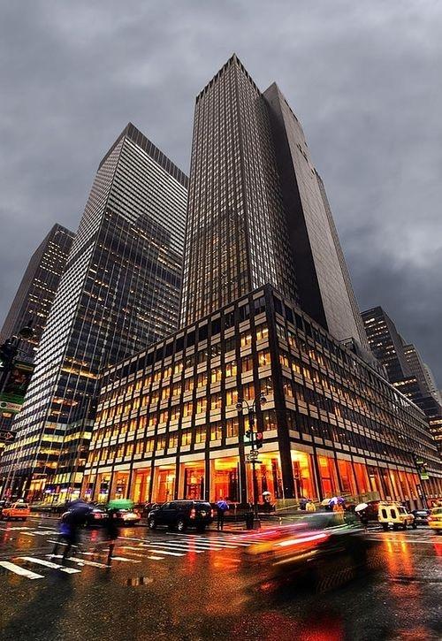 Gloomy day in New York City