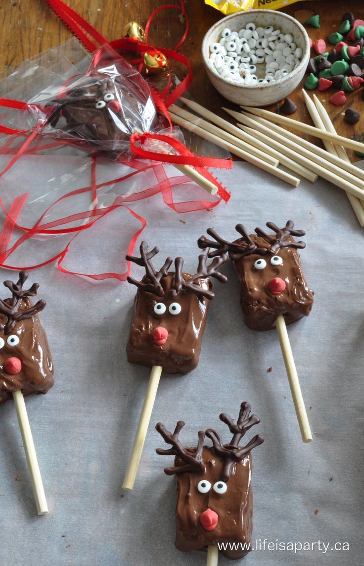 brownie reindeer pops recipe #BakeHolidayGoodness #CollectiveBias Ad