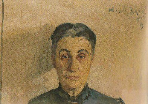 Portrait of the painter's mother,   Nikolaos Lytras