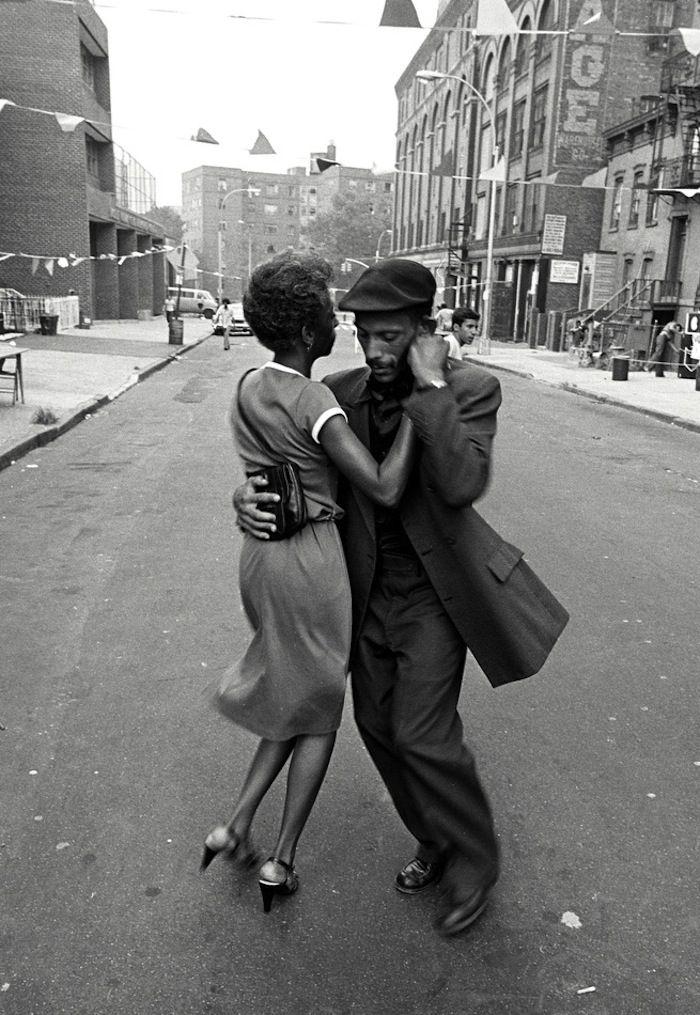 Dancers in Mott Haven, The Bronx, August 1956, near grandma's house.
