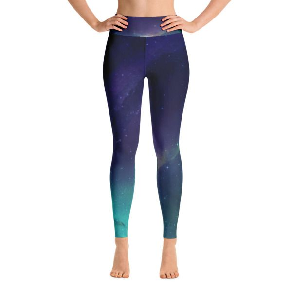 Purple Blue Galaxy Yoga Leggings //99$ & FREE Shipping //     #yogaleggings