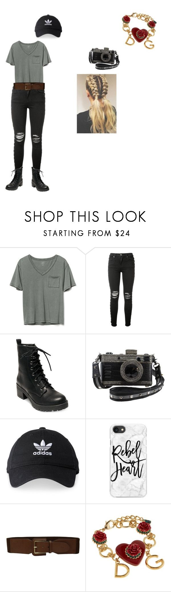 """""""Casual Friday movie"""" by totalawsomegurl ❤ liked on Polyvore featuring Gap, AMIRI, Madden Girl, adidas, Casetify, Lauren Ralph Lauren and Dolce&Gabbana"""