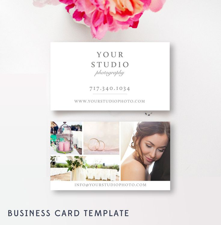 Business Card Template for Photographers - Photo Marketing Templates - Photography Business Cards - INSTANT DOWNLOAD by ByStephanieDesign on Etsy