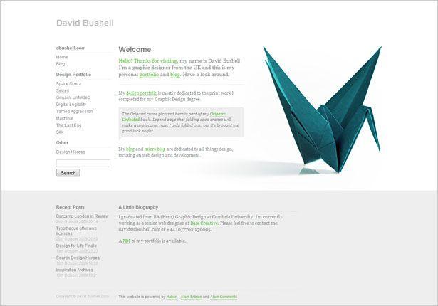 Minimalist website design examples