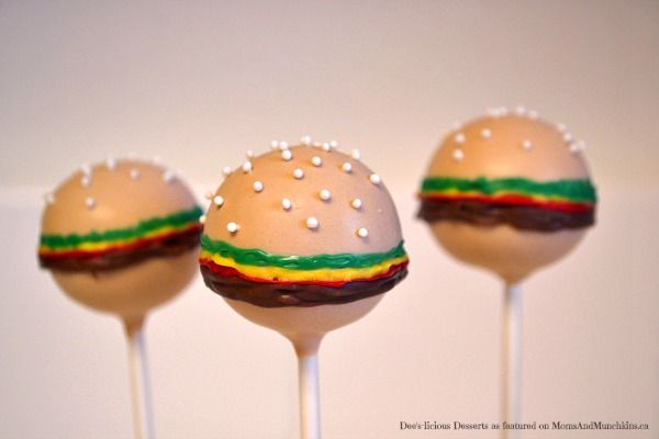 Hamburger Cake Pops