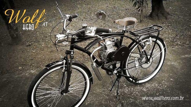 Bicicleta Motorizada Wolf Hero 4T - Wolf Hero