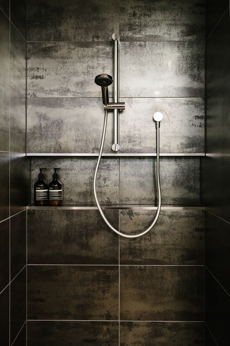 Amazing shower! Those tiles. The Murnane Residence Ocean Grove. Photography by Tara Pearce, Styling by Stephanie Somebody