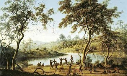 John Glover - Aborigines Dancing at Brighton, Tasmania, 1835
