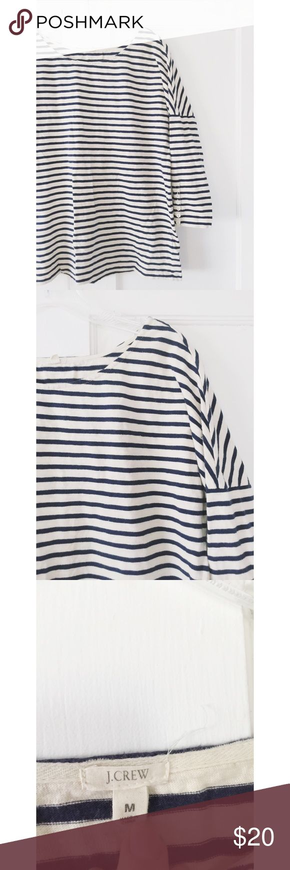 J. Crew Nautical Top J. Crew Nautical Top.  Women's size medium.  Loose comfortable fit.  Great condition. J. Crew Tops