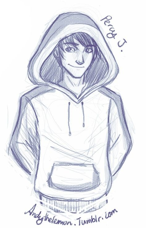 Percy Jackson with a hoody<<< And I am so happy that it is not put on like a gangster!! I hate it when they do that!