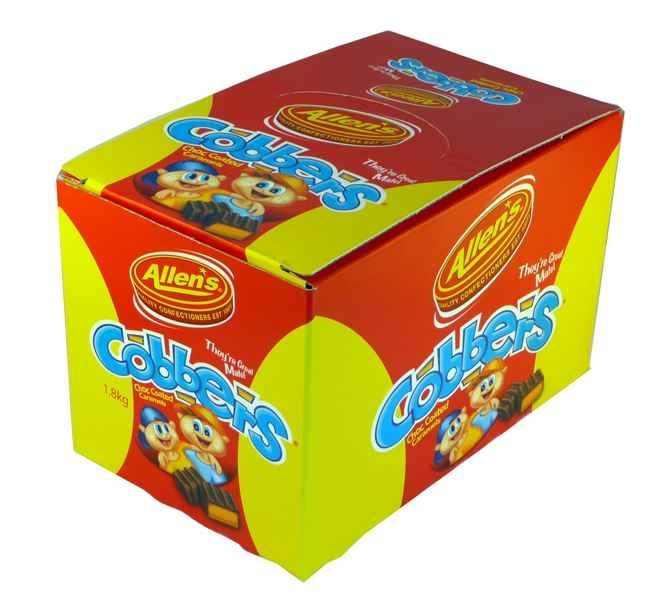 The Professors Tasty Technology - Allens Cobbers (320s - 1.8kg in a Display), $18.82 (http://www.theprofessors.com.au/products/allens-cobbers-320s-1-8kg-in-a-display.html)