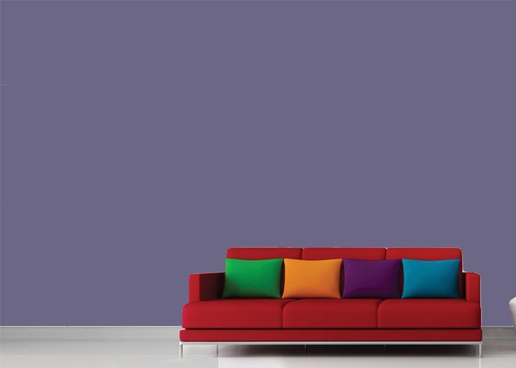 Violeta, vermelho e azul claro estão entre os destaques. Tendência dos anos 1960, esses tons têm sido as apostas para revestir as paredes da casa.