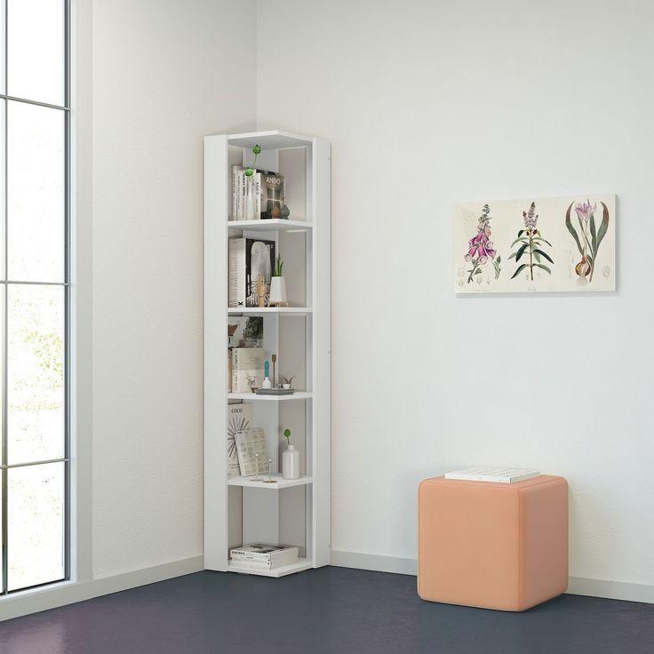 Libreria angolare bianca in legno MDF Balsas   Angoli del ...