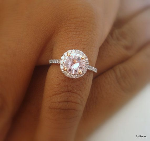 Handmade color change pinkish peach sapphire with by ReneJewelry, $1500.00