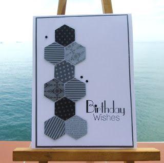 Hexagon Card....nice for a Man