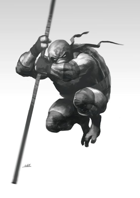 Donatello was always my favourite. I'm partial to a quarterstaff. The peasant's weapon.