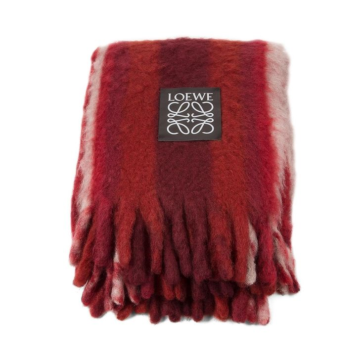 loewe blankets mohair stripes blanket burgundy discover loewe blankets products like our mohair stripes