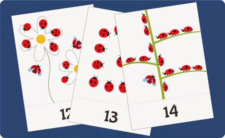 kartu belajar berhitung angka 11-20 untuk anak balita/TK, flash card lucu