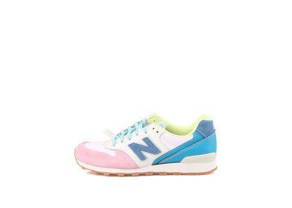 Bílo-růžové dámské tenisky s modrými detaily New Balance