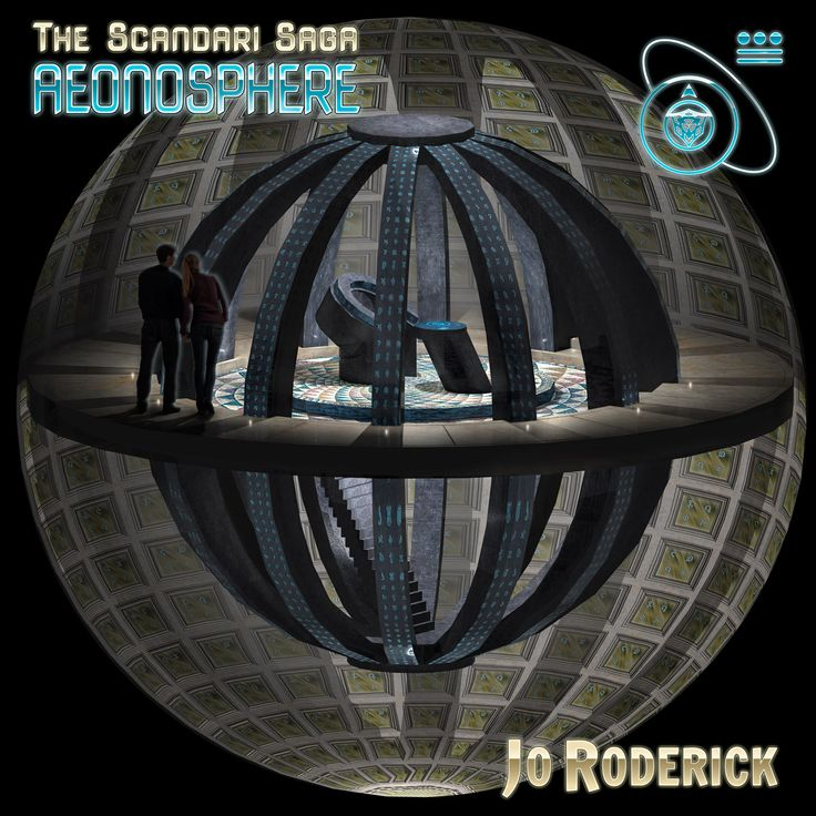 The Scandari Saga Book I - Aeonosphere. A 3D render of the overall view of the Aeonosphere.