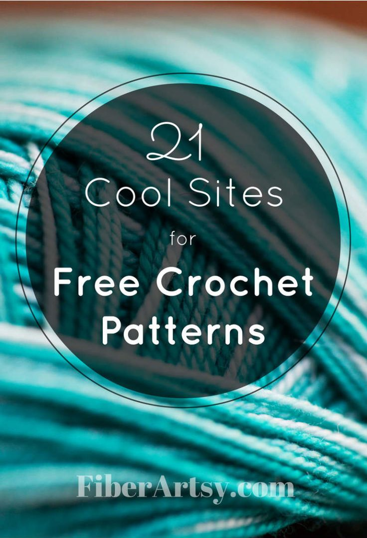 21 sites para livre Crochet Patterns