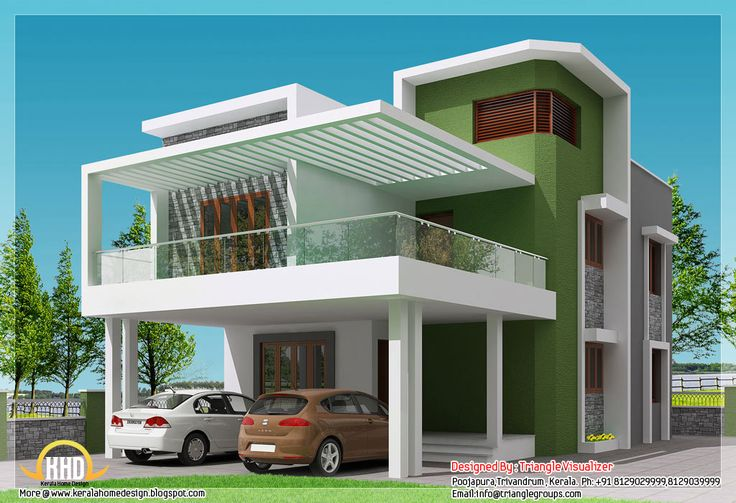 Small Modern Homes Beautiful 4 BHK Contemporary