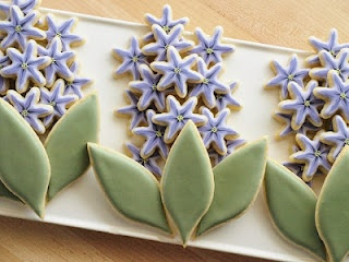 So pretty, but so much work: Tasty Recipe, Hyacinth Cookies, Pretty Cookies, Cupcakes, Sweets, Happy Spring, Food, Savory Recipe, Cookies Howto