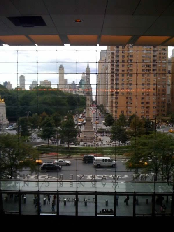 The view from the Time Warner Center, NYC