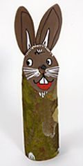Osterhase aus Baumstamm - Tree trunk Rabbit - step by step Photo tutorial - Bildanleitung