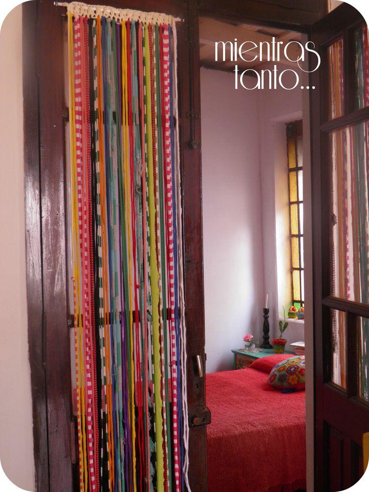 Cortina de totora multicolor mis tejidos pinterest - Tejidos de cortinas ...