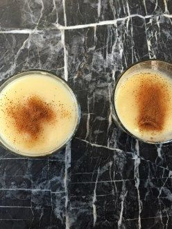 Boza - traditional Turkish malt drink served in winter to warm your body