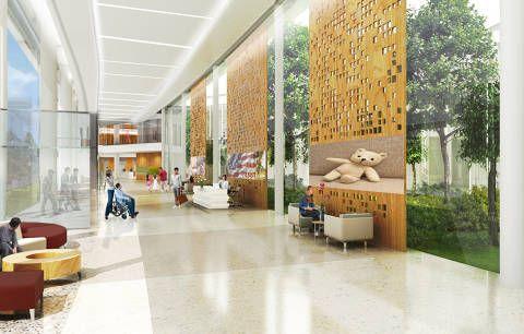 Modern hospital interior design