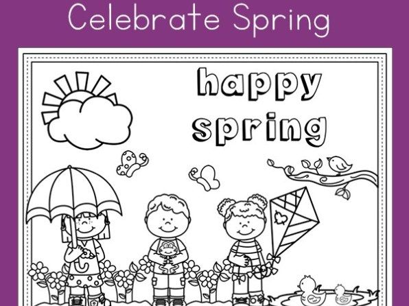 Happy Spring Free Spring Coloring Page Printable For Kids Spring Coloring Pages Spring Coloring Sheets Coloring Pages