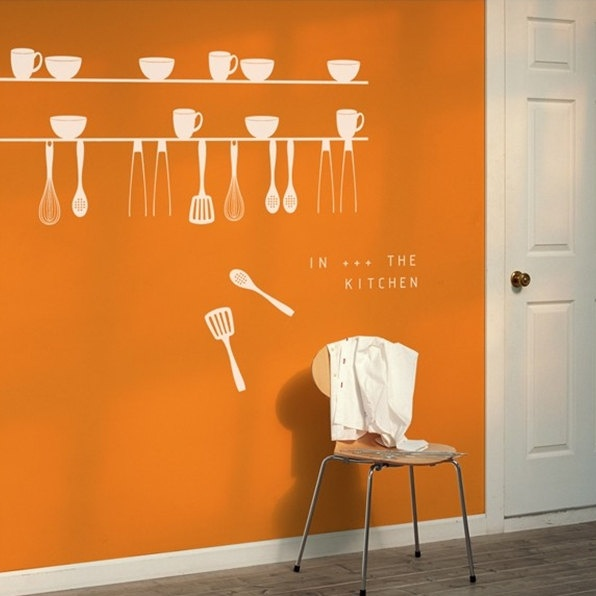 Kitchen Wall Vinyl: 53 Best Funky Kitchen Wall Stickers Images On Pinterest