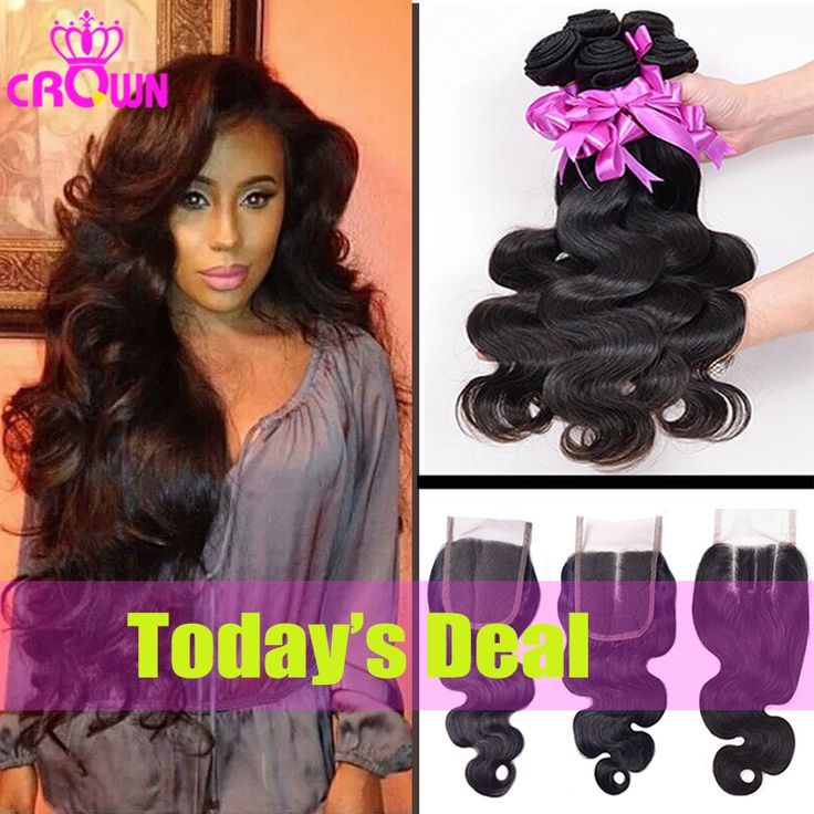 7A Malaysian Virgin ⑤ Hair With Closure 3PCS Malaysian Body Wave Hair √ Bundles With 1PC Lace Closure 4x4 Part 100% Human Hair Weave7A Malaysian Virgin Hair With Closure 3PCS Malaysian Body Wave Hair Bundles With 1PC Lace Closure 4x4 Part 100% Human Hair Weave