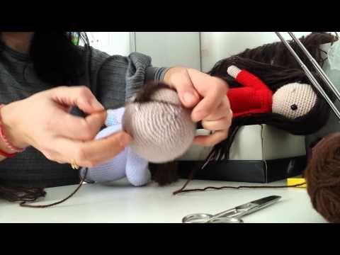 Come fare un parrucca per bambola amigurumi - YouTube
