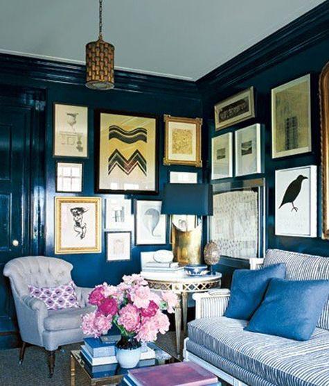 colors Design Manifest: Cottage Talk: Going Dark in the bedroom