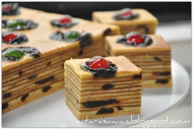Recipes today - Kek Lapis Prun Berempah