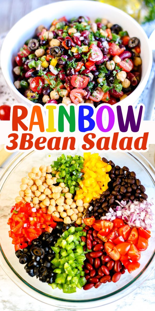 Jun 20, 2020 – This Rainbow Three Bean Salad is quick and easy to make. It is a healthy and delicious side dish perfect…