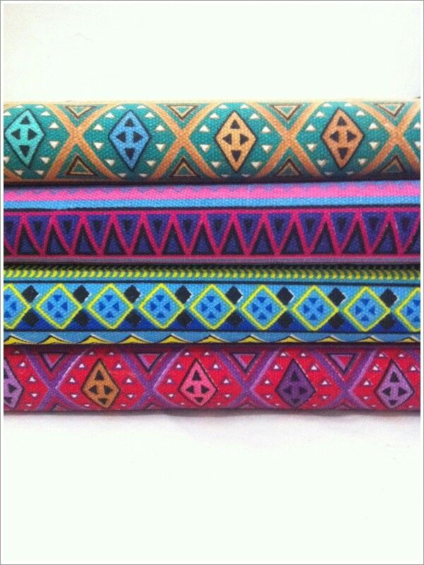 Tribal Canvas fabrics ready for Pouch.  #navajo #tribal #canvas #ethnic
