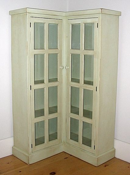 Corner Bookcase Cottage Style Old World Distressed Solid Pine Wood 30 Colors New