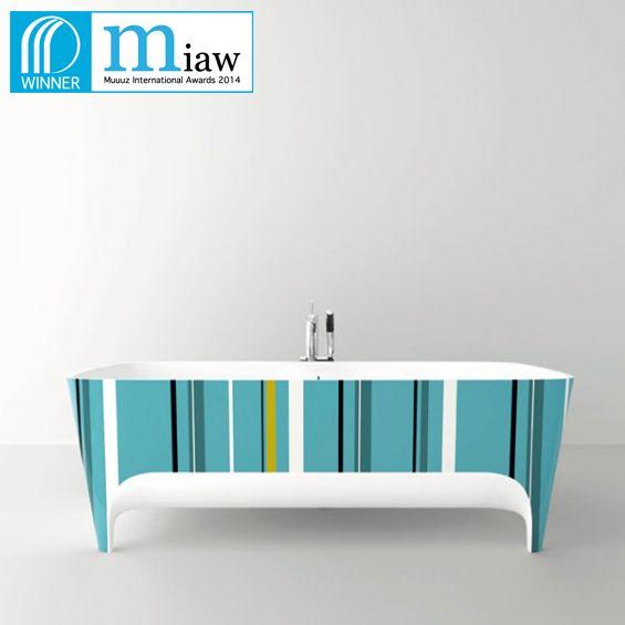Accademia Pop #bathtub wins the Palmares 2014 Products Architecture and Design (@Muuuz International Award 2014) #Teuco #design #bathroom