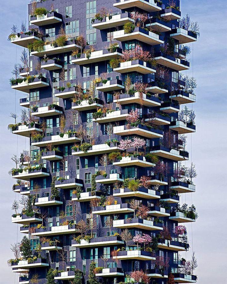 Vertical Forest | Stefano Boeri Architects Photo via @ carlocafferini Instagram #arch2o #architectural - Arch2O.com